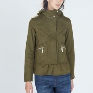 Zara Canvas Utility Jacket